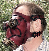 Steampunk Gas Mask in Red by TomBanwell