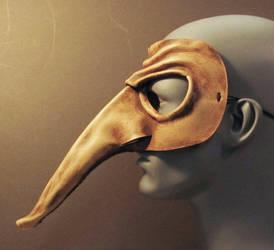 Zanni Leather Mask Side View by TomBanwell