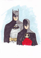 Batman and Red Robin by TeejTurtle