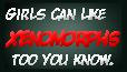 Xenomorph girls stamp by SheWolfey