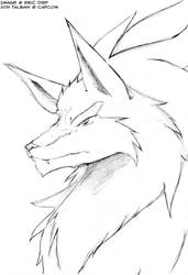 Jon Talbain Profile Sketch by qdd