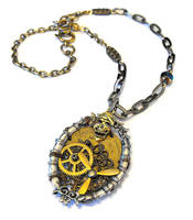Steampunk Airship Pirate Necklace by JLHilton
