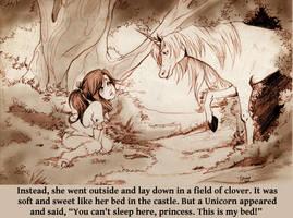 Children's book: Unicorn page by JLHilton
