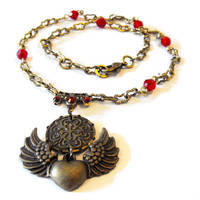 Winged Heart Valour Necklace by JLHilton