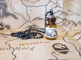 Skyrim: Honningbrew Mead Bottle Necklace by JLHilton