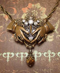 Steampunk Claddagh Pendant by JLHilton