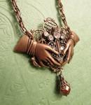 Steampunk Claddagh Pendant pic 2 by JLHilton