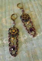 Steampunk Carnival Earrings by JLHilton