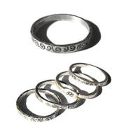 2010 fine silver rings by JLHilton