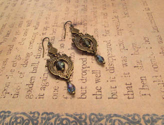 Neo-Victorian Art Nouveau Earrings by JLHilton