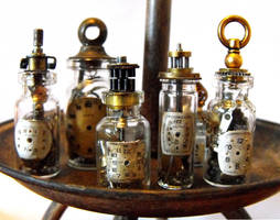 Steampunk vials by JLHilton
