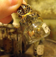 Copper heart vial by JLHilton