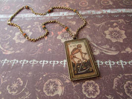 Death tarot card pendant by JLHilton