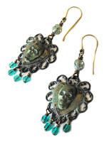 Sunken pirate ship chandelier earrings by JLHilton