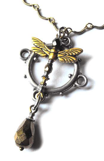Steamfly necklace close up by JLHilton