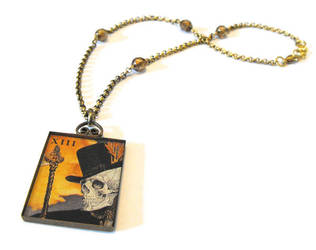 Death tarot card necklace by JLHilton