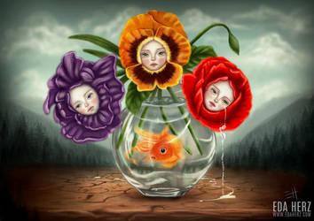 Three Flowers by EdaHerz