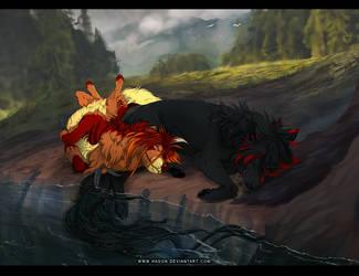 YCH cuddles by Hagon