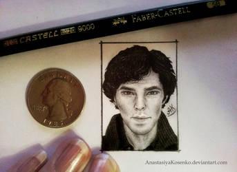 Sherlock - Miniature portrait by AnastasiyaKosenko