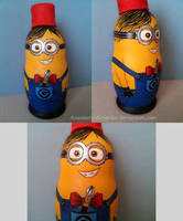 Despicable Me - Doctonion (Minion) nesting doll by AnastasiyaKosenko