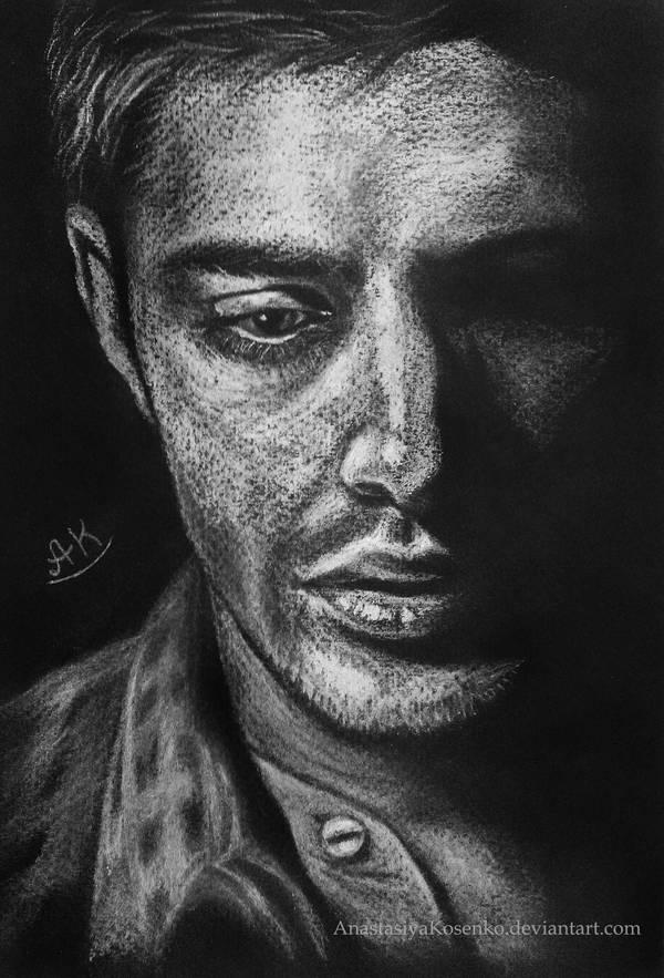 Supernatural - Dean Winchester in shadows by AnastasiyaKosenko