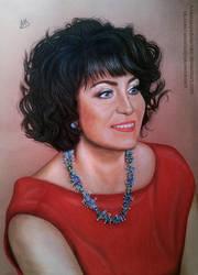 Commission - Woman with curly hair by AnastasiyaKosenko
