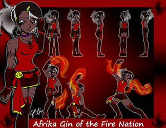 Gin the Fire Bender by SilverVirgo1993
