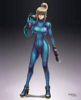 Harmony of Heroes: Zero Suit Samus by hybridmink