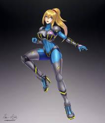 Neo Zero Suit Samus by hybridmink