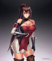 H Female Protagonist by hybridmink