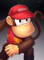 Diddy Kong (Ultimate) by hybridmink