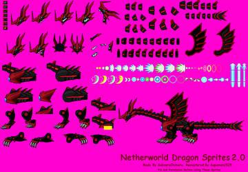 Netherworld Dragon Sprites 2.0 by supaman2525