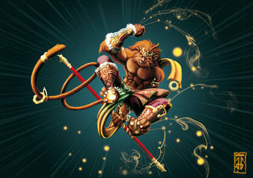 Sun Wukong The monkey King by JG-OBERON