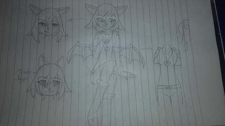 Rouge the Bat human form by irnu