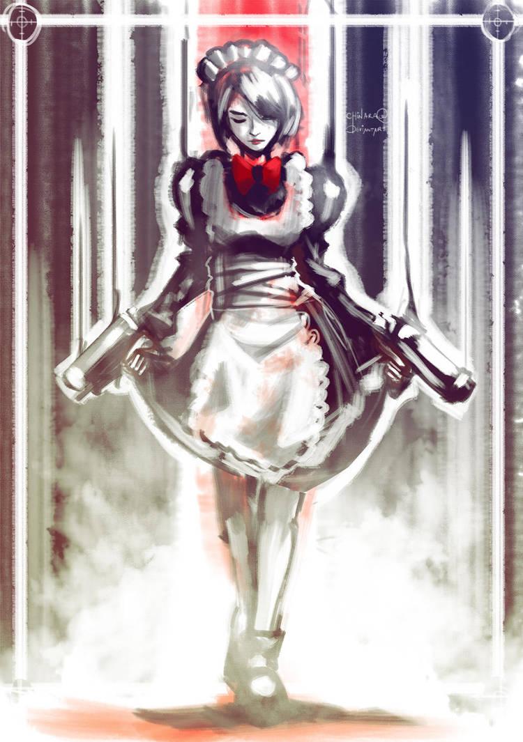FFBE - The Maid with a Gun by chinara
