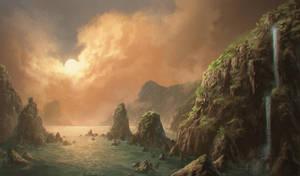 Orange landscape by KrasnyNieJasny
