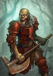 Zombie Warrior by KrasnyNieJasny