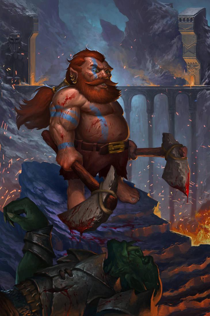 Dwarf Barbarian by KrasnyNieJasny