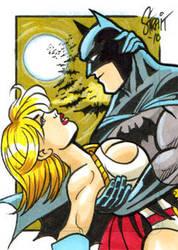 Batman and Powergirl by Sonion