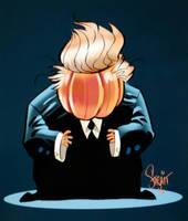 Make America Great Again Pumpkin, Charlie Brown by Sonion