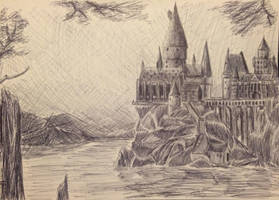 Hogwarts Pen Drawing #2 by Rogo2002