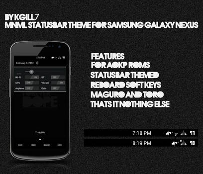 MNML Statusbar Theme for Samsung GNEX by kgill77