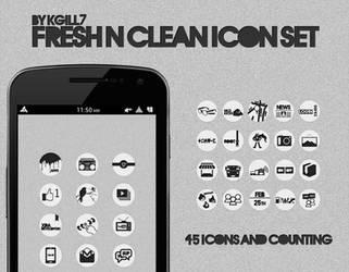 Fresh N Clean Icon Set by kgill77