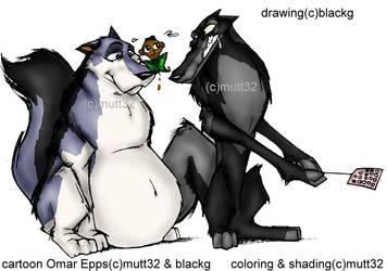 a blackg drawin by mutt32