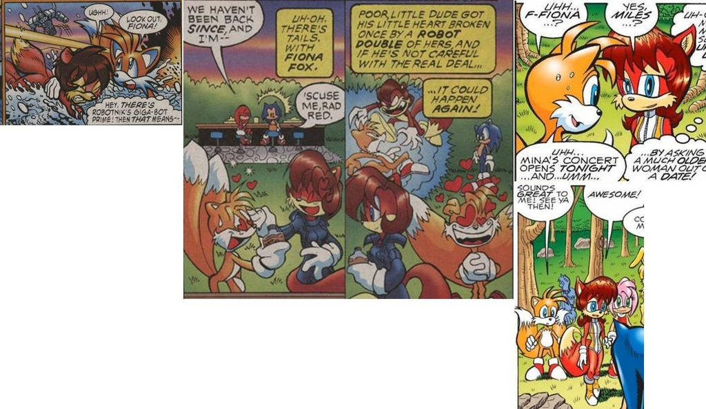 Tails-Fiona panel 1 by FoxAffliction