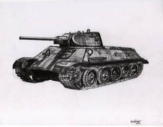 T-34 medium tank by shank117