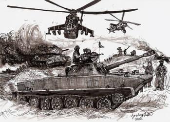 Red Dawn PT-76 Light Tank by shank117