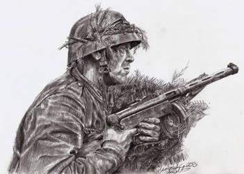 Finnish Soldier Illustration by shank117