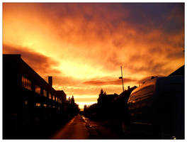 Amazing Street August Sunset by Aamarka