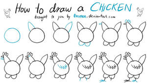 How to draw a Chicken Tutorial by enonea